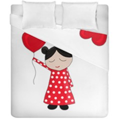Girl In Love Duvet Cover Double Side (california King Size) by Valentinaart