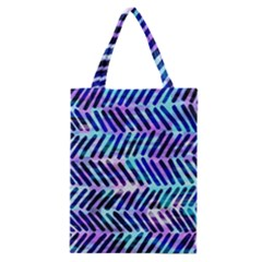 Blue Tribal Chevrons  Classic Tote Bag by KirstenStar