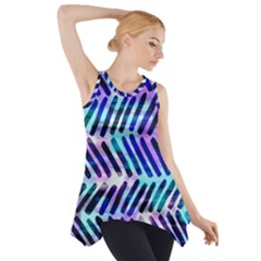 Blue Tribal Chevrons  Side Drop Tank Tunic by KirstenStar