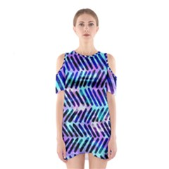 Blue Tribal Chevrons  Shoulder Cutout One Piece by KirstenStar