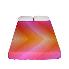 Pattern Background Pink Orange Fitted Sheet (full/ Double Size) by Nexatart