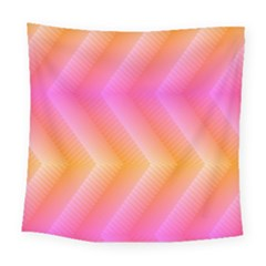 Pattern Background Pink Orange Square Tapestry (large)