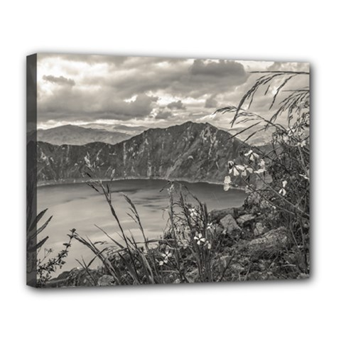 Quilotoa Lake Latacunga Ecuador Canvas 14  X 11  by dflcprints