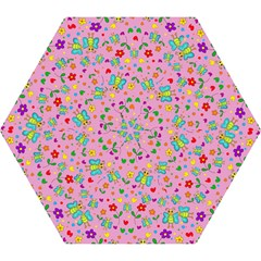 Cute Butterflies And Flowers Pattern   Pink Mini Folding Umbrellas by Valentinaart