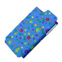 Cute butterflies and flowers pattern - blue Apple iPhone 5 Hardshell Case (PC+Silicone) View4