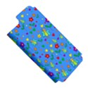 Cute butterflies and flowers pattern - blue Apple iPhone 5 Hardshell Case (PC+Silicone) View5