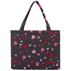 Hearts Pattern Mini Tote Bag by Valentinaart