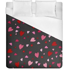 Hearts Pattern Duvet Cover (california King Size) by Valentinaart