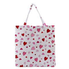Valentine s Day Hearts Grocery Tote Bag