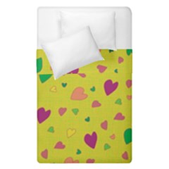Colorful Hearts Duvet Cover Double Side (single Size) by Valentinaart