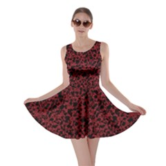 Red Coral Pattern Skater Dress