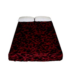 Red Coral Pattern Fitted Sheet (full/ Double Size) by Valentinaart