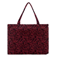 Red Coral Pattern Medium Tote Bag by Valentinaart