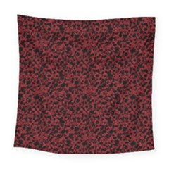 Red Coral Pattern Square Tapestry (large)