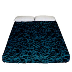 Blue Coral Pattern Fitted Sheet (queen Size) by Valentinaart