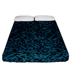 Blue Coral Pattern Fitted Sheet (king Size) by Valentinaart