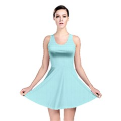 Light Blue Texture Reversible Skater Dress by Valentinaart