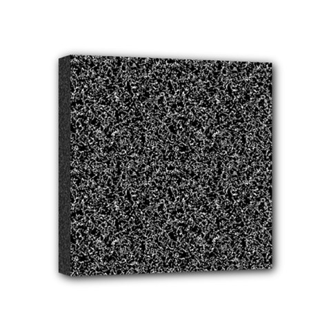 Black Elegant Texture Mini Canvas 4  X 4  by Valentinaart