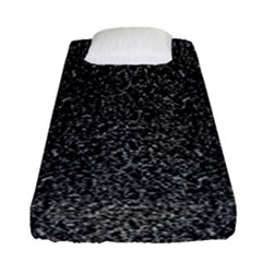 Black Elegant Texture Fitted Sheet (single Size) by Valentinaart