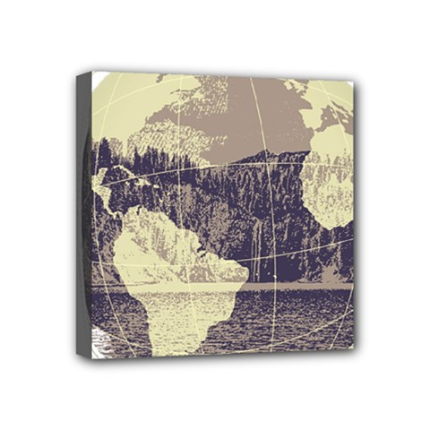 River Globe Mini Canvas 4  X 4  by MTNDesignco