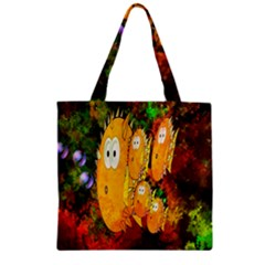 Abstract Fish Artwork Digital Art Zipper Grocery Tote Bag by Nexatart