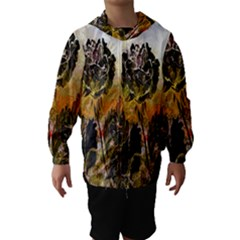 Abstract Digital Art Hooded Wind Breaker (kids)