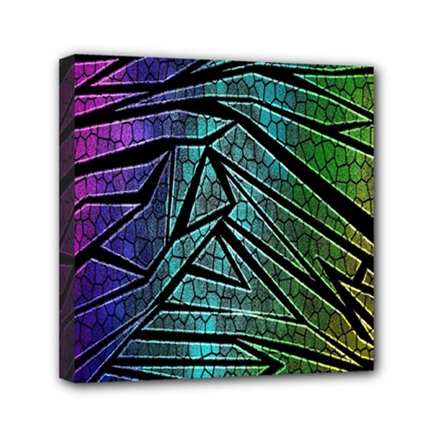 Abstract Background Rainbow Metal Mini Canvas 6  X 6