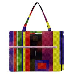 Abstract Art Geometric Background Medium Zipper Tote Bag by Nexatart