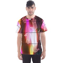 Abstract Background Design Squares Men s Sport Mesh Tee