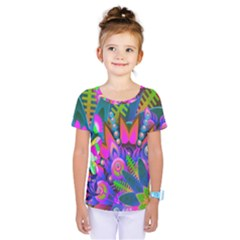 Abstract Digital Art  Kids  One Piece Tee
