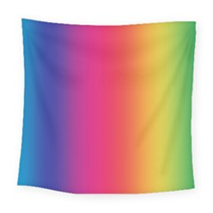 Abstract Rainbow Square Tapestry (large)