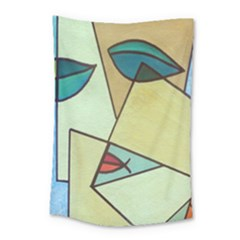 Abstract Art Face Small Tapestry