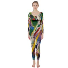 Abstract Art Art Artwork Colorful Long Sleeve Catsuit by Nexatart