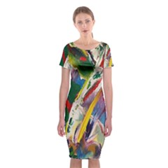 Abstract Art Art Artwork Colorful Classic Short Sleeve Midi Dress by Nexatart