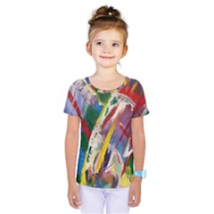 Abstract Art Art Artwork Colorful Kids  One Piece Tee by Nexatart