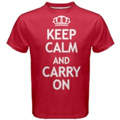 Red Keep Calm And Carry On Tee by FunnySaying