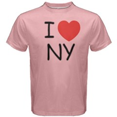 1pink I Love New York  Men s Cotton Tee by FunnySaying