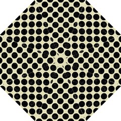 Circles2 Black Marble & Beige Linen (r) Golf Umbrella by trendistuff
