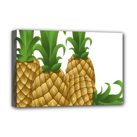 Pineapples Tropical Fruits Foods Deluxe Canvas 18  X 12   by Nexatart