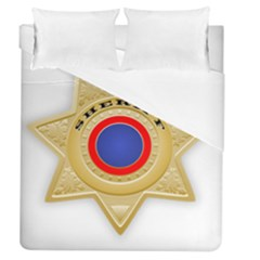Sheriff S Star Sheriff Star Chief Duvet Cover (queen Size) by Nexatart