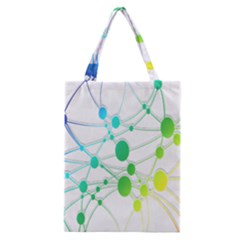 Network Connection Structure Knot Classic Tote Bag