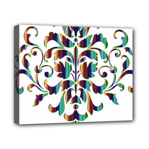 Damask Decorative Ornamental Canvas 10  X 8  by Nexatart