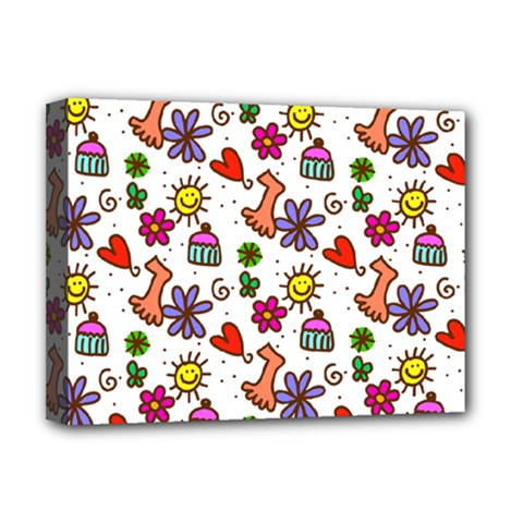 Doodle Pattern Deluxe Canvas 16  X 12   by Nexatart