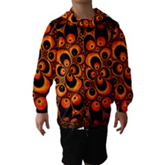 Fractals Ball About Abstract Hooded Wind Breaker (kids)