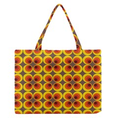 Seventies Hippie Psychedelic Circle Medium Zipper Tote Bag by Nexatart