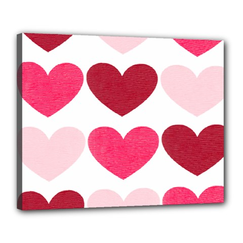 Valentine S Day Hearts Canvas 20  X 16