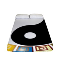 Yin Yang Eastern Asian Philosophy Fitted Sheet (full/ Double Size) by Nexatart