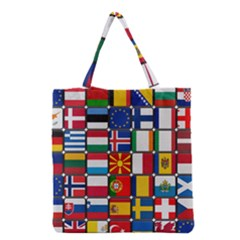 Europe Flag Star Button Blue Grocery Tote Bag by Nexatart