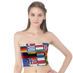 Europe Flag Star Button Blue Tube Top by Nexatart