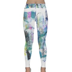 Background Color Circle Pattern Classic Yoga Leggings by Nexatart